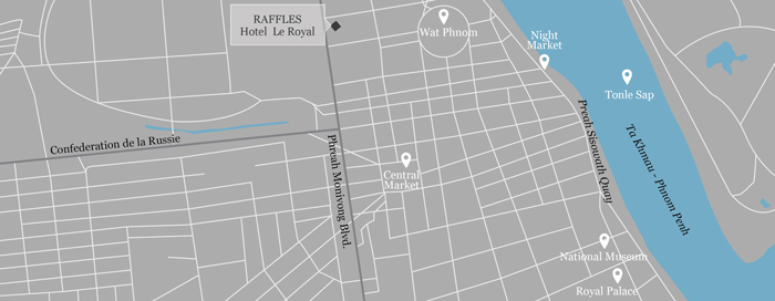 Raffles Le Royal map